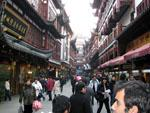 Walking through the Old Shanghai City streets