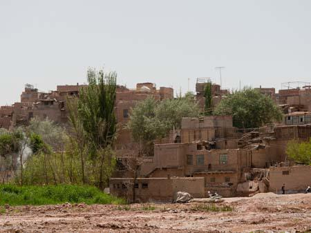 The old mud brick buildings of silk road city Kashi