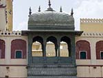Upper area of one of the gates at the Pitam Niwas Chowk