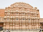 The beehive appearance of Hawa Mahal, the Palace of Winds