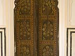 A wooden door at the Hawa Mahal