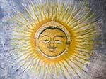 Surya Choupad with a ornamental sun, the symbol of the sun-descended Mewar dynasty