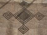 Intricate brick mosaics cover the Arg of Karim Khan's exterior West wall